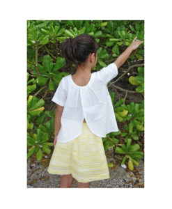 Kalila_Organics_Citrus_Skirt_Petal_Top_model